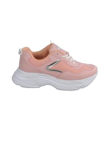 Bestof Bestof Bst-053 Pudra-Beyaz Unisex Spor Ayakkabı (Yaz) Pudra